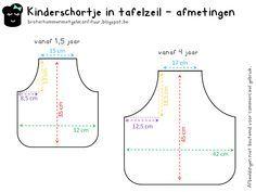 Patroon peuter - en kinderschort - Pattern apron for toddlers / kids