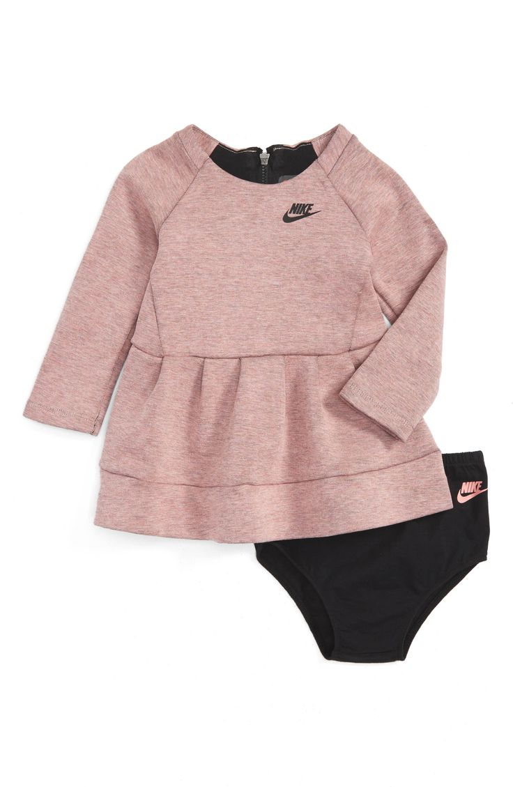 Main Image - Nike Tech Pack Fleece Dress (Baby Girls)