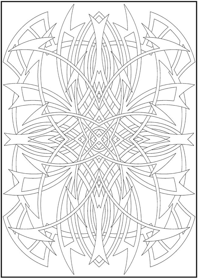 960 best adult coloring pages images on pinterest | coloring books ... - Coloring Pages Abstract Designs