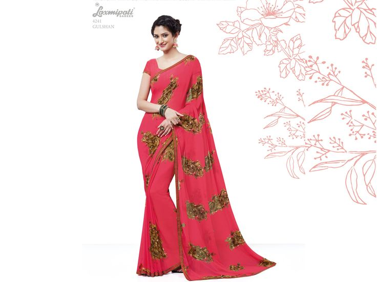 Buy this Exclusive Gajari Georgette Saree with Fancy Printed Gajari Color Blouse along with Bhagalpuri Silk Printed Lace Border Online from Laxmipati.com in USA, UK, Canada,India. Shop Now! 100% genuine products guaranteed. Limited Stock! #Catalogue # SURPREET  Price - Rs. 1331.00  #Sarees #ReadyToWear #OccasionWear #Ethnicwear #FestivalSarees #Fashion #Fashionista #Couture #LaxmipatiSaree #Autumn #Winter #Women #Her #She #M