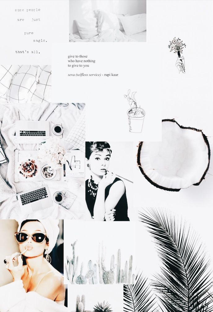 White Aesthetic Collage