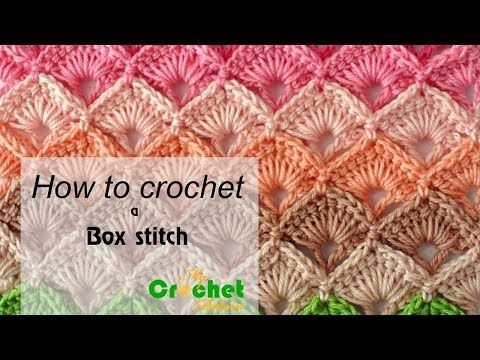How to crochet a Box stitch - Free crochet pattens - YouTube