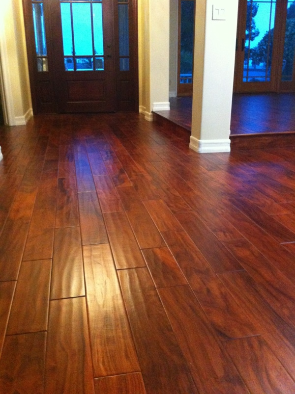 Here is an Acacia hardwood floor. It looks beautiful in ...