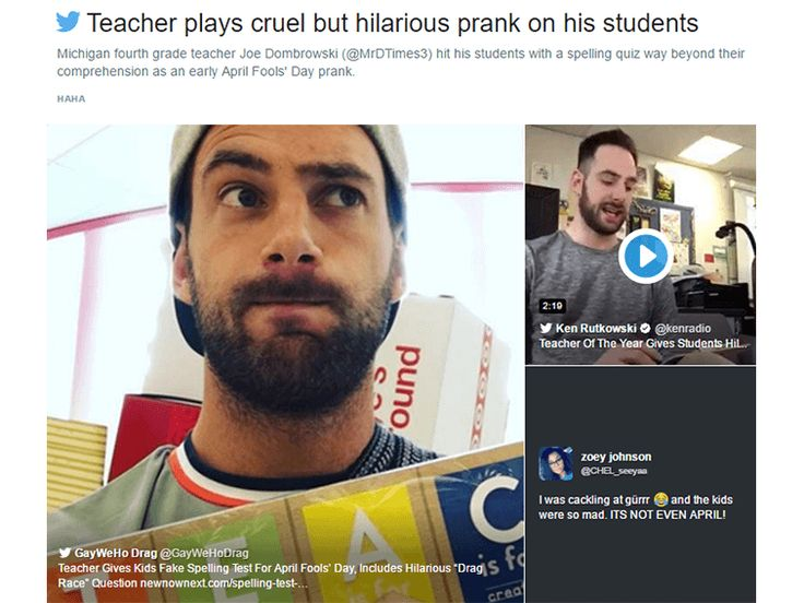 #GoTeacher 165: [Video] Teacher Pranks Students With Spelling Quiz - Start your week with 1 item that informs, inspires, or entertains. Subscribe at www.GoTeacher.me