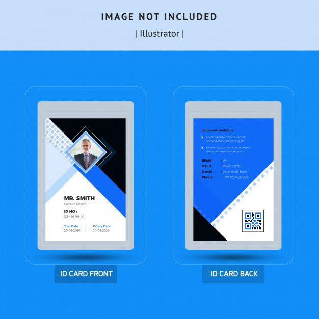 Simple Id Card Template Design Id Card Template Identity Card Design Free Printable Business Cards