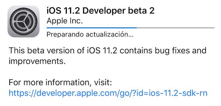 Apple lanza iOS 11.2 y watchOS 4.2 Beta 2 para desarrolladores - https://www.actualidadiphone.com/215299-2/