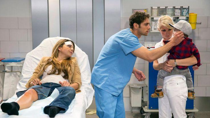 Die jungen Ärzte Folge 2 - Freunde und Familie | Arzu Ritter (Arzu Bazman), Dr. Niklas Ahrend (Roy Peter Link) & Max Brentano (?)