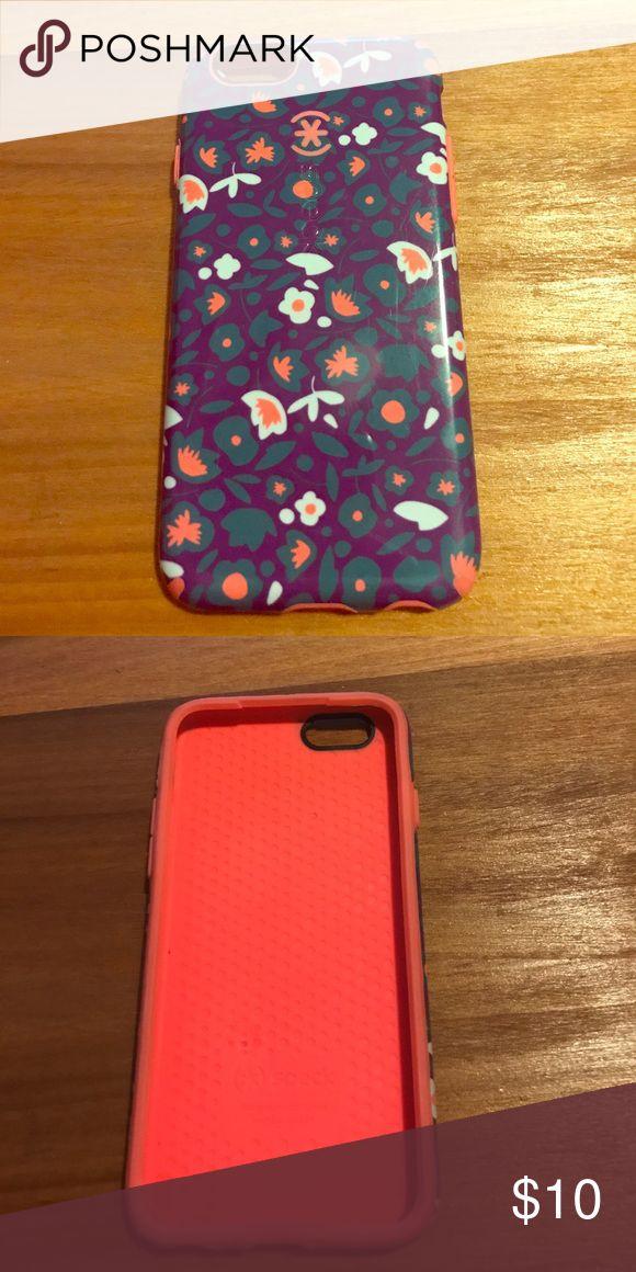 Speck iPhone 6 case Speck iPhone 6 case. Soooo cute! Neon orange and purple! speck Accessories Phone Cases