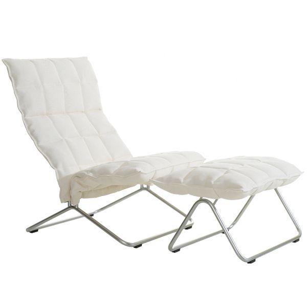 K chair and ottoman, narrow