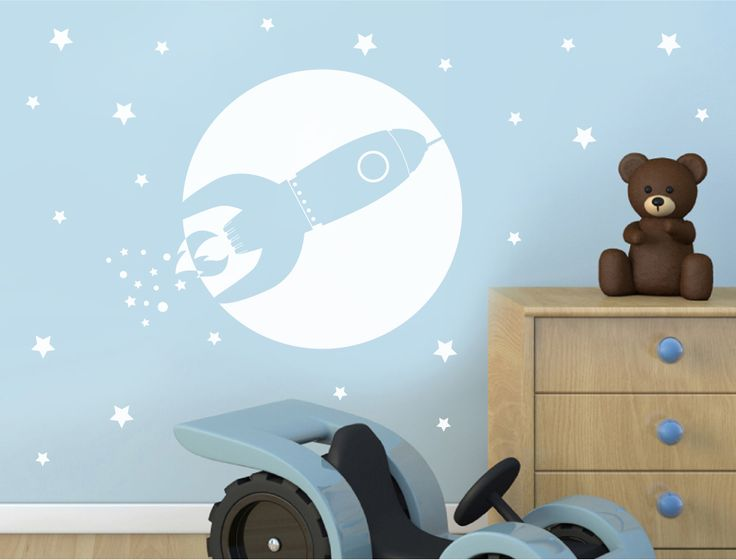 Rocket Wall Sticker Decal | Boys Wall Decor   Aspect Wall Art
