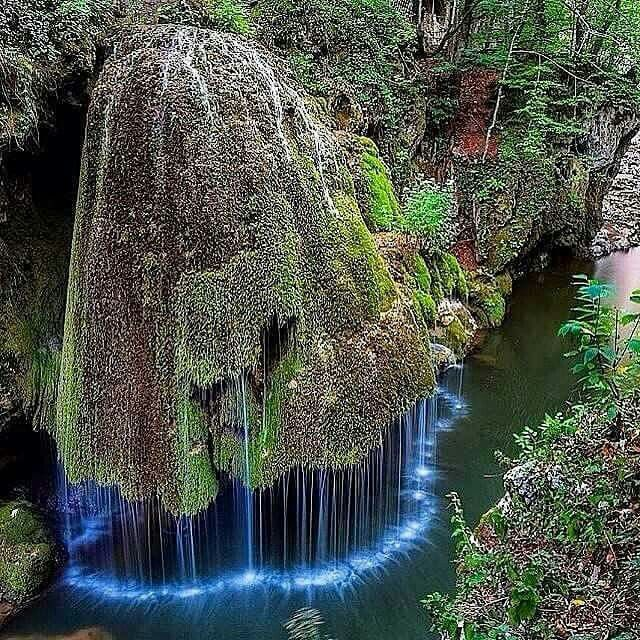 Dazzling waterfall in Romania