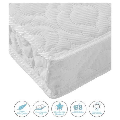 kinder valley deluxe spring cot mattress 120x60cm