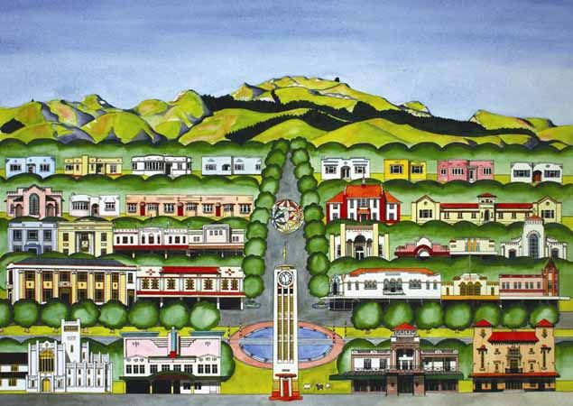 Hastings 1 by Sarah Platt  New Zealand Art Prints