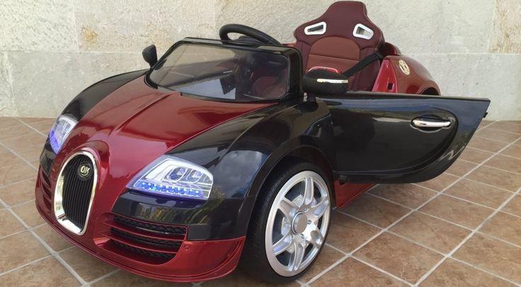 Coche para niños - 12v Bugatti Veyron Style Burdeos con mando, IndalChess.com Tienda de juguetes online y juegos de jardin