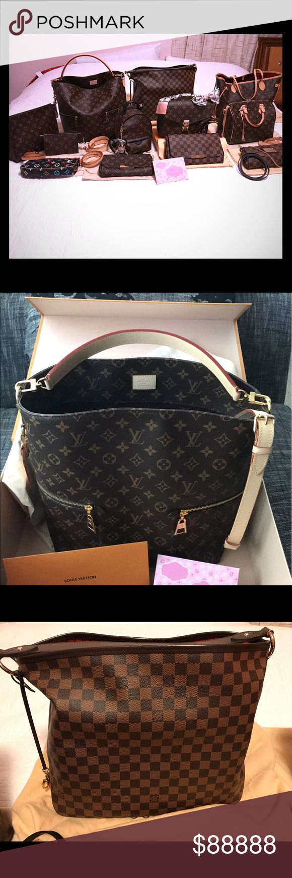 """Latest personal closet """"Inventory""""😊😍😊 Louis Vuitton Miss Melie, Delightful MM in DE, Pochette Metis in Mono, Palm Springs Mini Backpack, Favorite MM in DE, Speedy B25 in Mono, Neverfull MM Pivoine,Toiletry 26 in Mono, Toiletry 15 in Mono, Multicolor Pochette and more SLGs not included in the picture. I did this in the middle of night since i cant do it when kids are around!!!😫😩💧🍼🥛🍦🍩🍪 🤣😂🤣 so i thought i wont include the SLGs anymore otherwise it would take me a good hr again to…"""