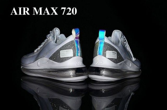 Nike Air Max 720 White Grey Men S Running Shoes Nike St009180 In 2020 Running Shoes For Men Nike Air Max Mens