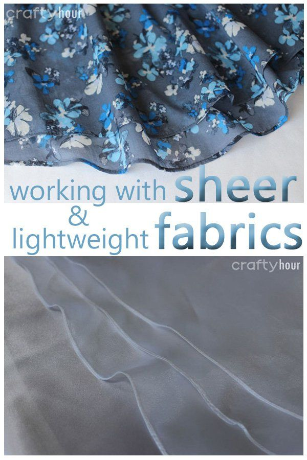 Tips and examples on how to hem sheer fabrics such as chiffon, voiles and organza. Examples on a regular sewing machine and a serger for tiny rolled hems.