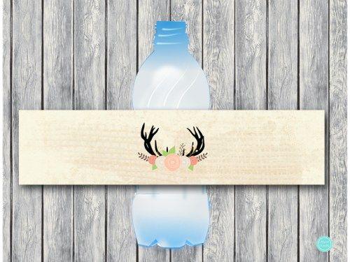 TLC21 Water-Bottle-Label oh deer baby shower