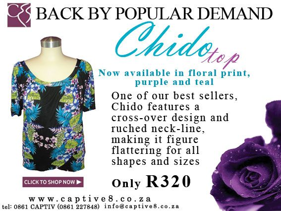 Chido Floral - some florally love www.captive8.co.za