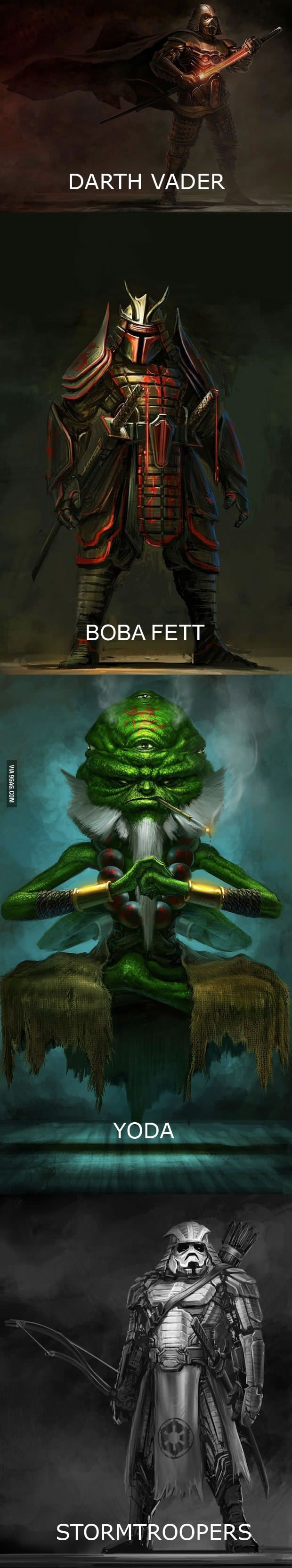 everything but yoda looks cool.