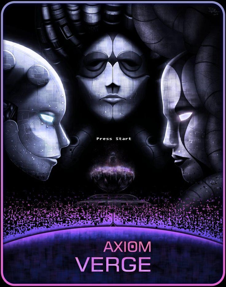 Press Start, Axiom Verge, DigiFlohw on DeviantArt