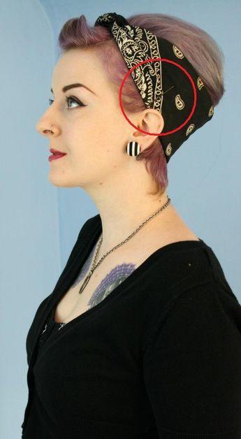 Retro Hair Styling : How To Fold A Bandana