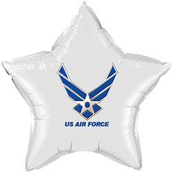 us air force celebration party supplies - air force white star balloon