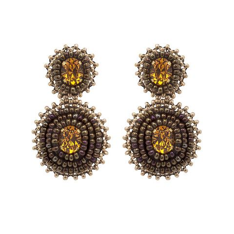 Your ears will love our Soraya earrings. They are carefully hand beaded on rich satin, making them extremely light and comfortable despite their large size.
