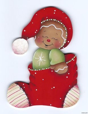 Gingerbread fridge magnet