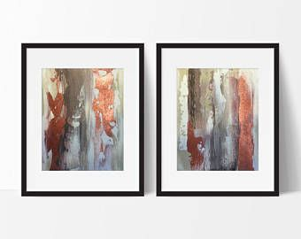 metallic copper abstract art brown art copper painting rustic art textured abstract modern painting copper wall art bronze  art copper art -    Edit Listing  - Etsy