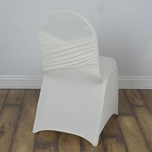 Ivory Madrid Banquet Chair Covers