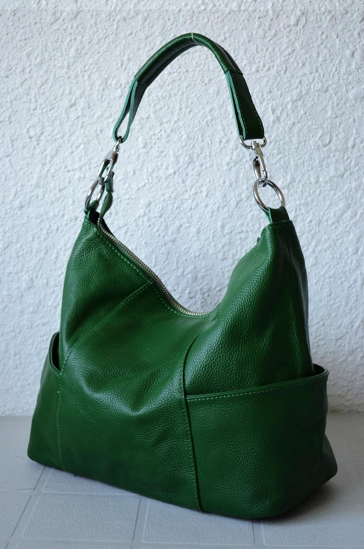 Leather hobo Jolie medium green---Adeleshop handmade ... | 736 x 1110 jpeg 286kB
