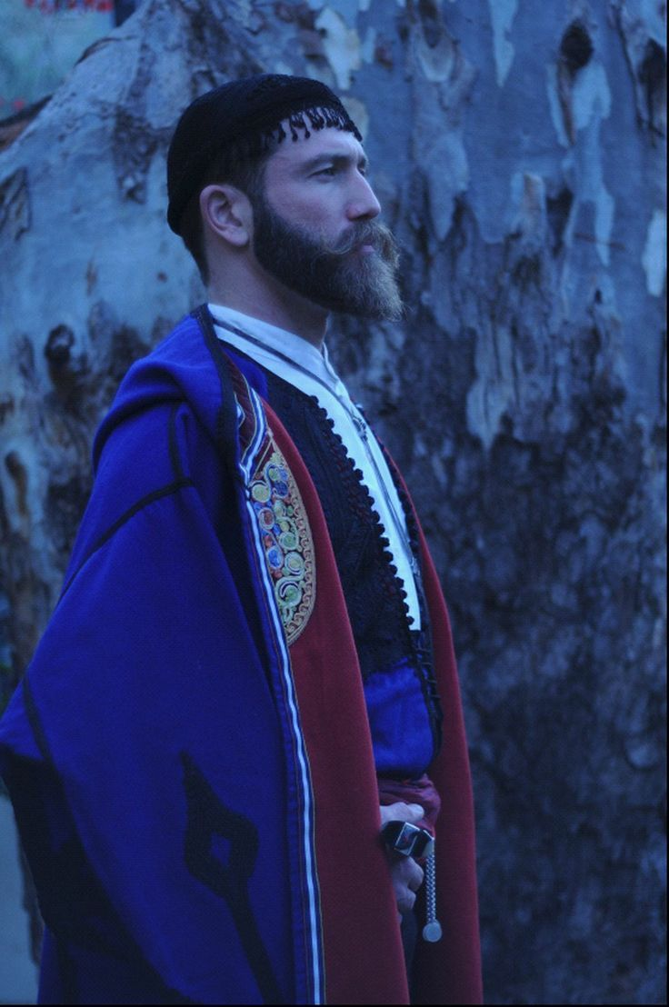 Greek man from Crete in traditional greek cretan costume