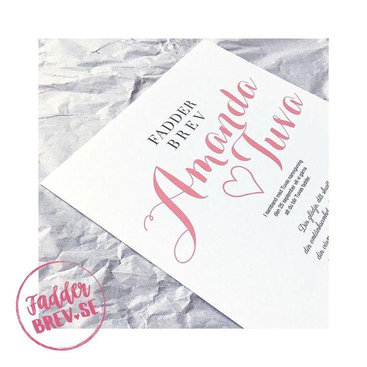Det här kärleksfulla, personligt designade fadderbrevet fick Tuvas fadder Amanda. Beställ ett till namngivningen du också på Fadderbrev.se ♥ ⠀⠀ ⠀⠀ ⠀⠀ ⠀⠀ ⠀⠀ ⠀⠀ ⠀⠀ ⠀⠀ ⠀⠀ ⠀⠀ ⠀⠀ - - - - - - - - - - - - - - - - - - - - - - - - - - - - - - - - ⠀⠀ #fadderbrev_se #fadderbrev #namngivning #namngivelse #namngivningsfest #namngivningskalas #namngivningsceremoni #namngivningspresent #dop #dopgåva #faddrar #fadder #fadderbarn #babystuff #babyshower #mittlivsommamma #mammalivet #mammaledig #newborn…