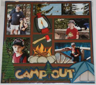 great outdoors scrapbook layouts | ... great scrapbook camping layout that provides space for at least 6
