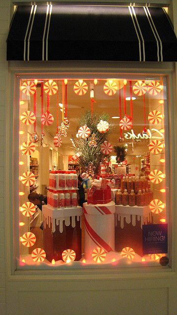 Window Display at Bath and Body Works