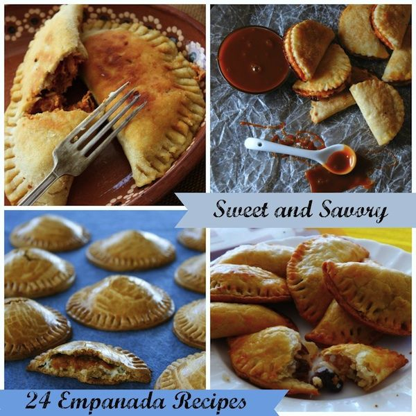 24 Mouthwatering Flavors of Empanadas: Sweet and Savory! Great using the Tupperware Empanada Maker