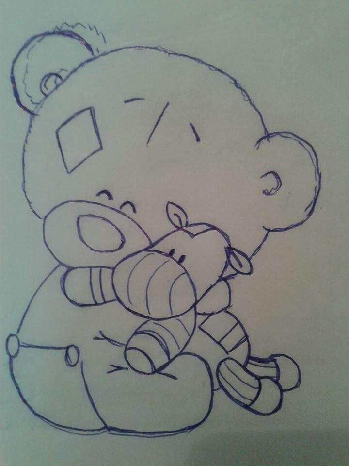 Прикольные картинки мишек карандашом фоток мультфильма
