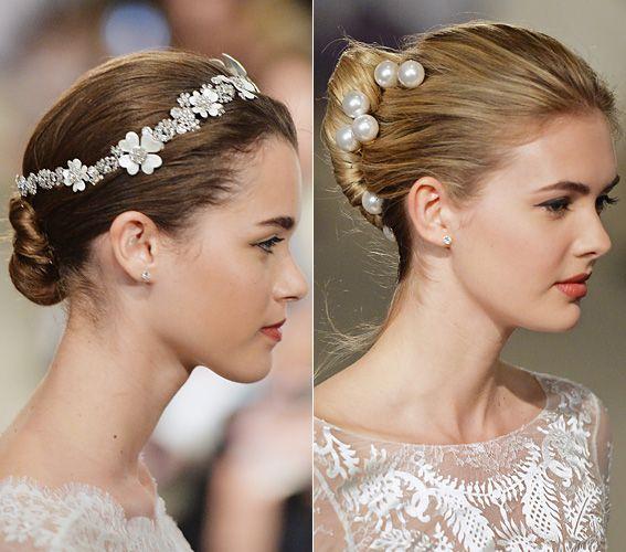 Bridal Fashion Week 2015: The Prettiest Wedding Updos - Carolina Herrera from #InStyle