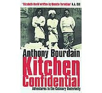 """""""New York Chef Tony Bourdain gives away secrets of the trade in his wickedly funny, inspiring memoir/expose."""""""