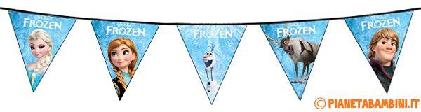 Lo striscione con le bandierine di Frozen