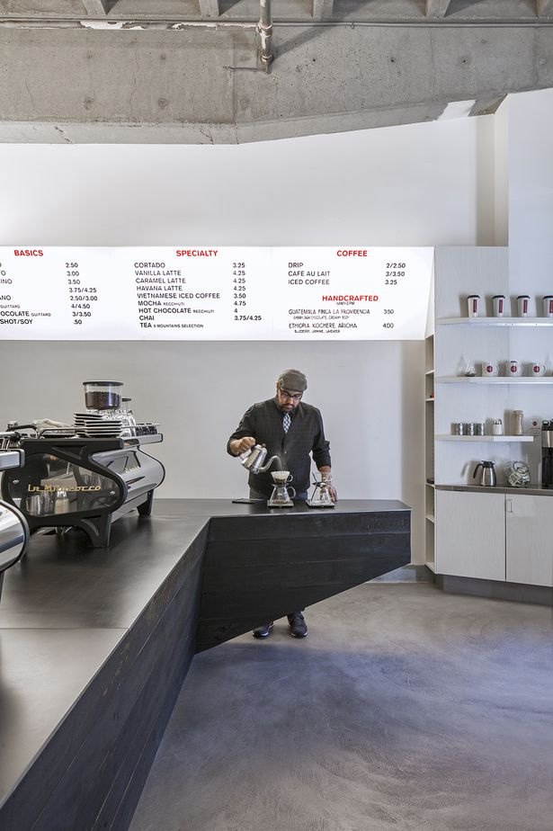 Coffee Bar Kearny | jones | haydu; Photo: Art Gray | Archinect