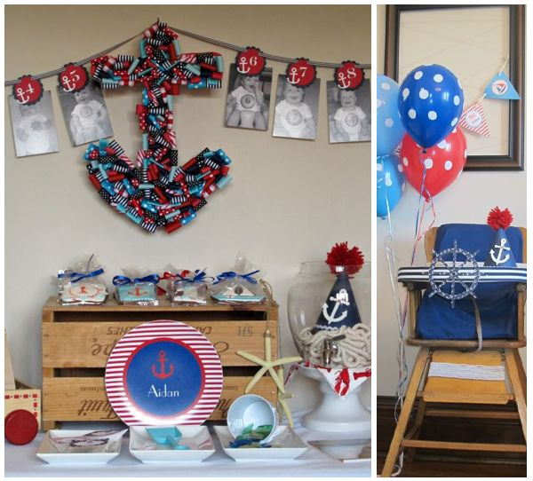 Nautical Event Decor: 226 Best Images About Nautical Sweet 16 (Navy, White