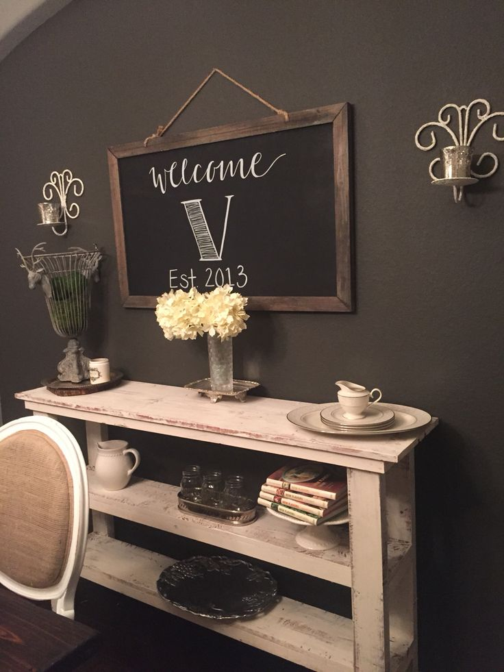 Buffet In Dining Room Wall Color Is Black Fox By Sherwin
