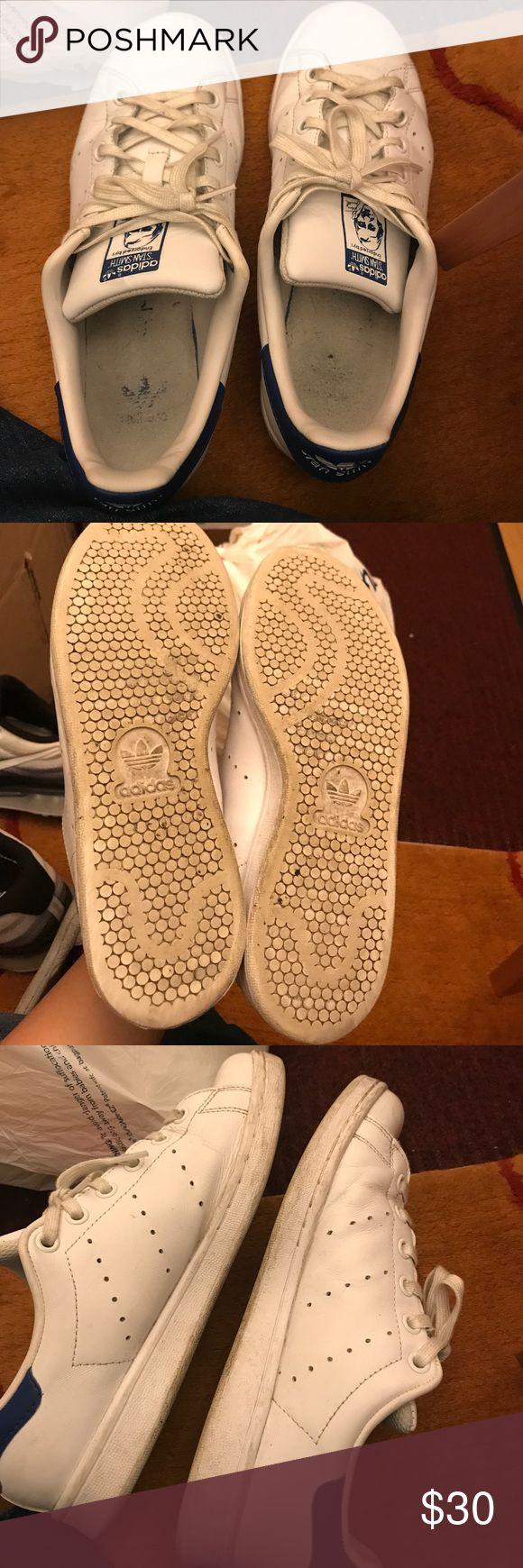 Adidas Stan Smiths KIDS Worn, in great condition. Fits a women's size 8!! Price neg adidas Shoes Sneakers