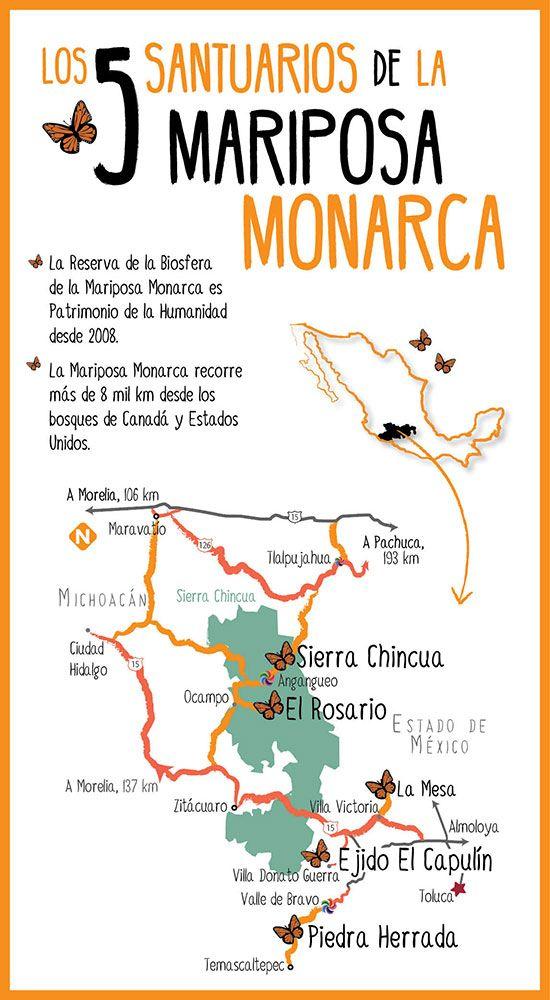 5 santuarios mariposa monarca!