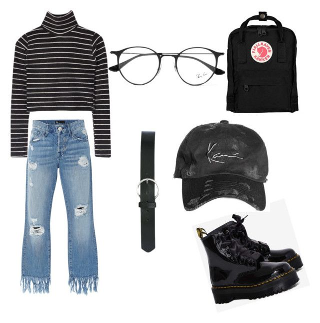 casual black by fdshahnaz on Polyvore featuring polyvore, fashion, style, 3x1, Dr. Martens, Fjällräven, M&Co, Ray-Ban and clothing