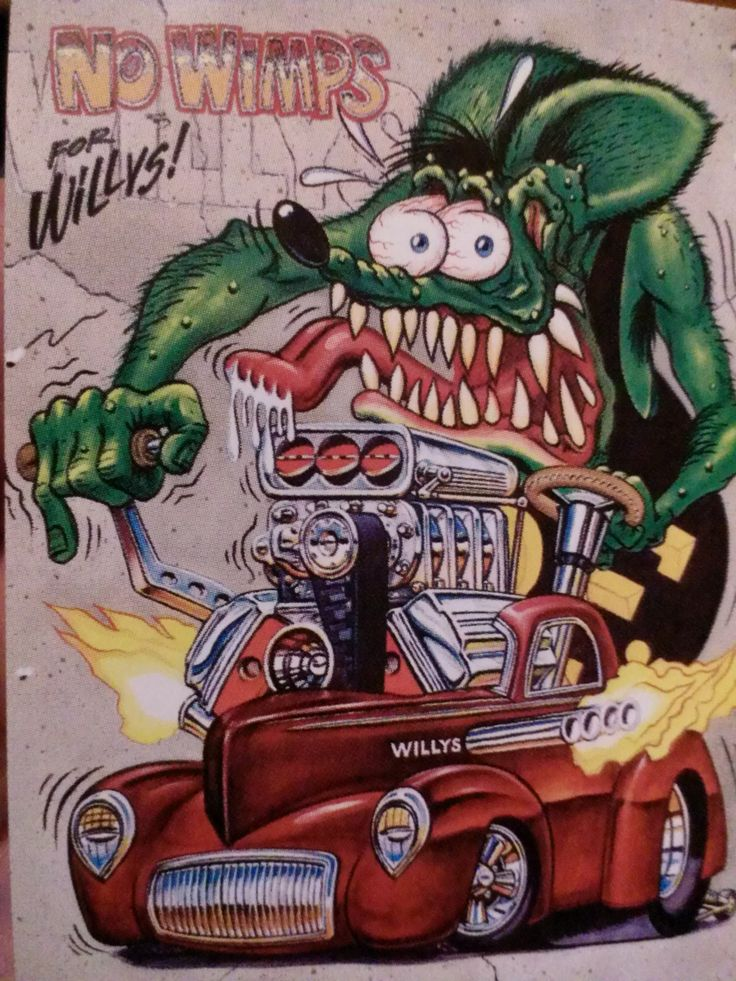 40 willys with hemi huffer | rat fink cards | Pinterest