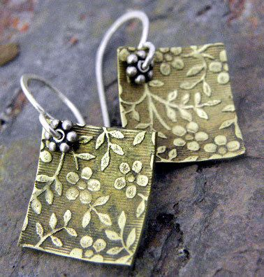 Romancesml Silver and Brass earrings by ThePurpleLilyDesigns, $16.75