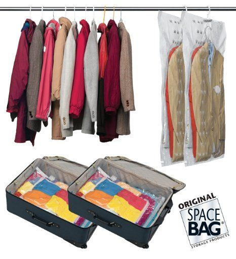 Space Bag Travel Pack. 2 Carry-on and 2 Suitcase Size